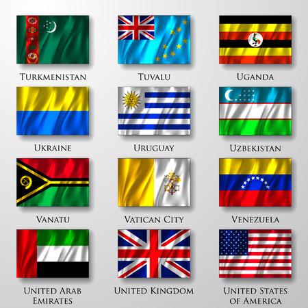 waving flag:  Flags.