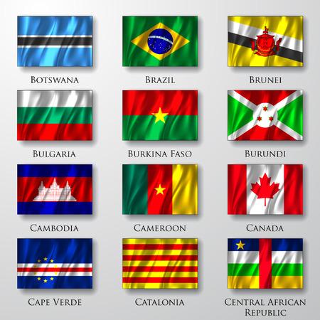 banderas del mundo: Banderas. Vectores
