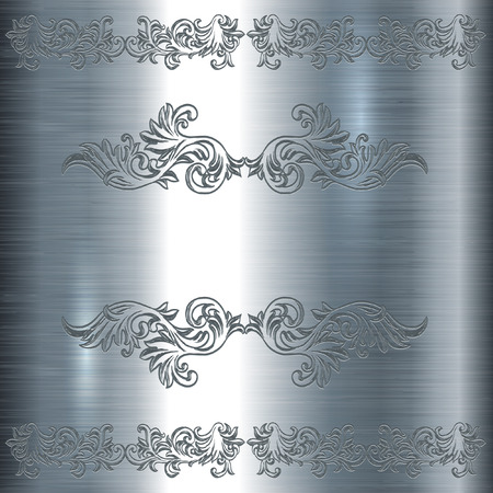 Abstract engraving decorative background. Illustration