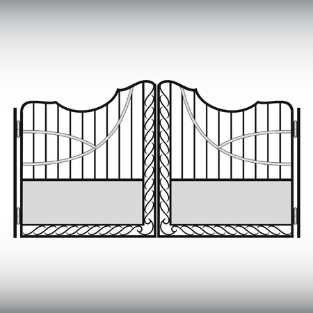 furnish: Gates forged, fence Illustration