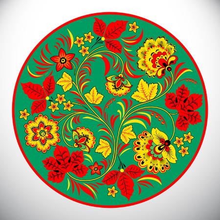 Khokhloma painting