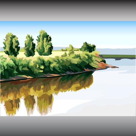 paisaje de verano Ilustración de vector