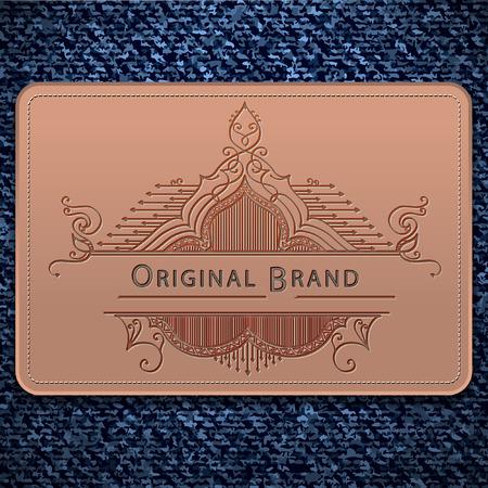 Denim label