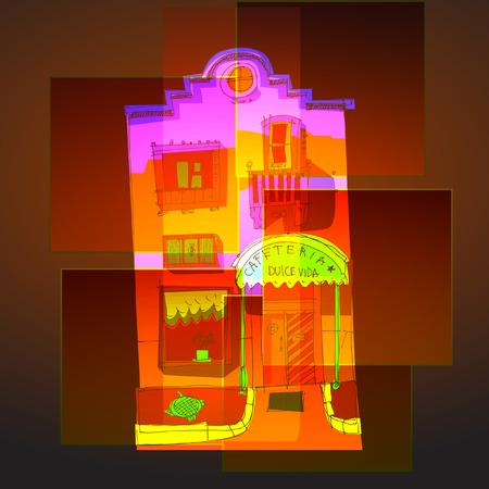 Colorful Cartoon buildings