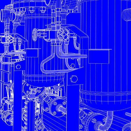 Industrial shop blueprint vector