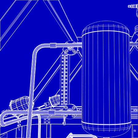 Industrial shop Illustration