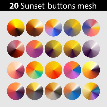 Sunset buttons mesh