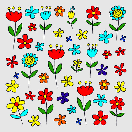 Doodle kit of Flowers
