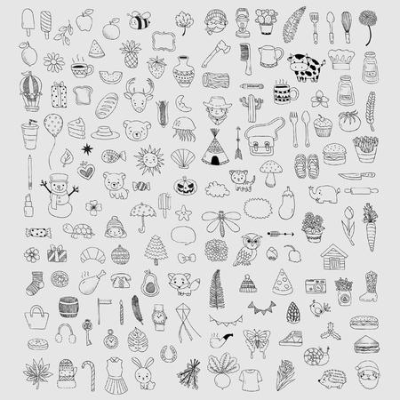 Doodle kit of Design elements