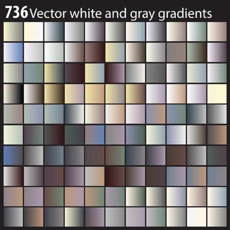 Vector white and gray gradients Иллюстрация