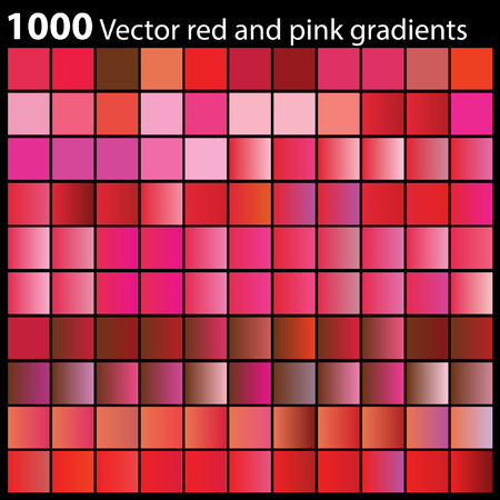 Vector pink and red gradients