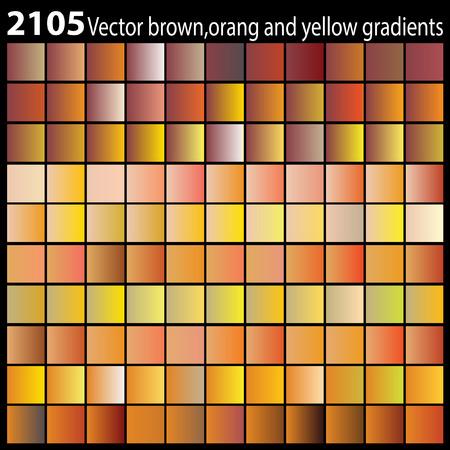 Vector brown,orang and yellow gradients