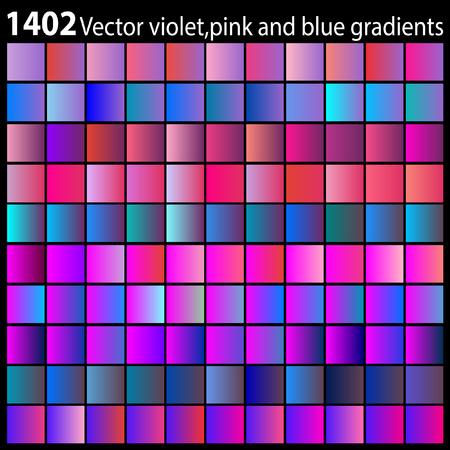 Vector violet,pink and blue gradients Иллюстрация