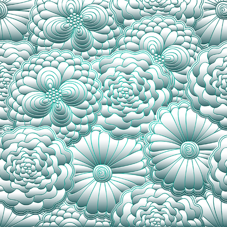 Abstract floral pattern design. Иллюстрация