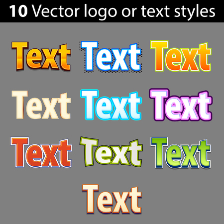 Vector icons of text styles