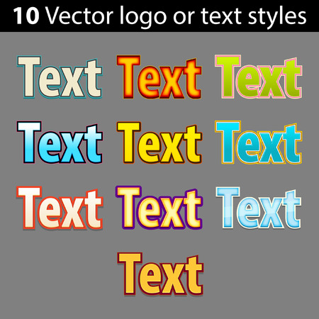 Vector  text styles
