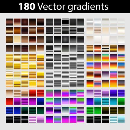 180 vector gradients in various colors Иллюстрация