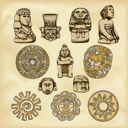 Aztecs illustration 일러스트