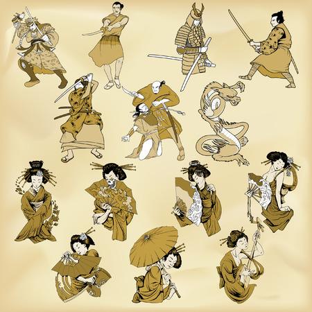 Samurai and geysha