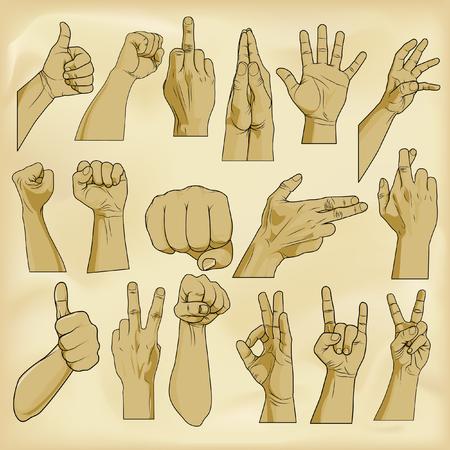 Human handsign Иллюстрация