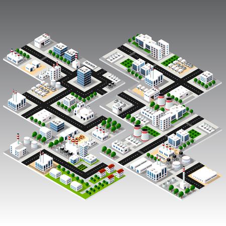 Isometric urban city Vector illustration.