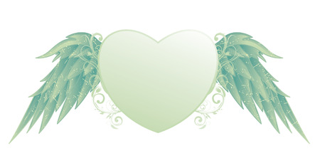beautiful illustration of an abstract heart with floral