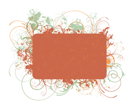 beautiful illustration of an abstract floral frame Illustration