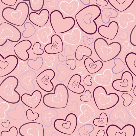 valentine illustration of a seamless pattern with heart Stock Photo