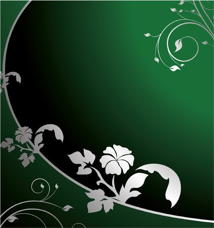beautiful illustration of an abstract floral background