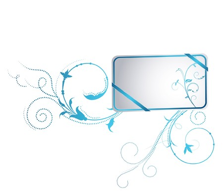 beautiful illustration of an abstract floral frame Stock Photo