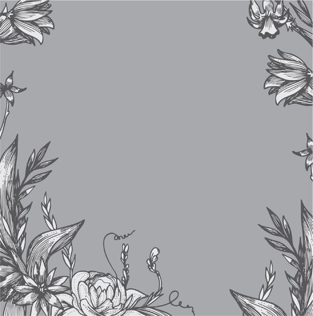 beautiful vintage illustration of a floral background Stock Photo