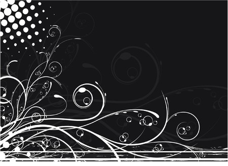 abstract illustration of a floral background with grunge