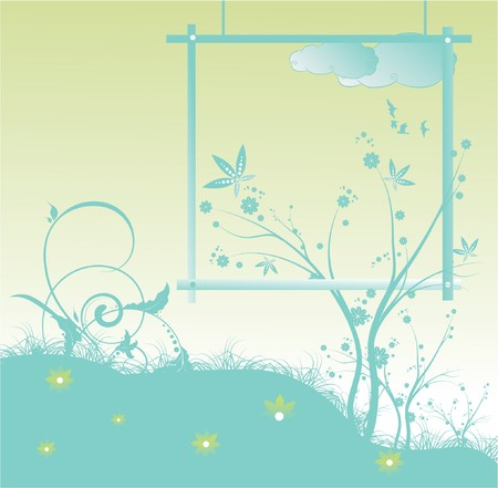 abstract illustration of a floral background with lots of leaves