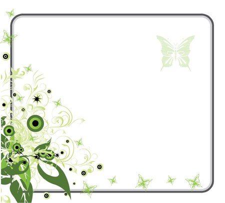 abstract illustration with floral and lots of leaves Stock Photo