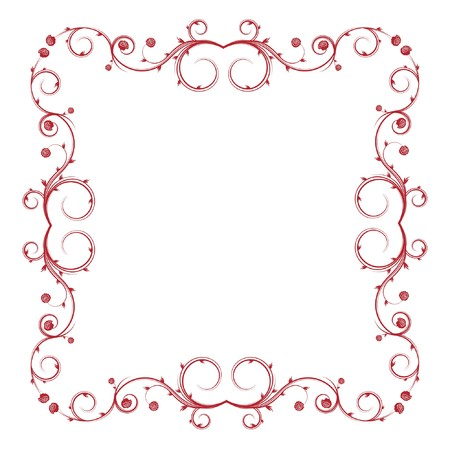abstract frame with floral and lots of leaves Stock Photo
