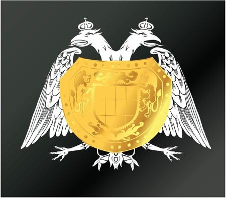 vintage illustration of a sticker with heraldry illustration