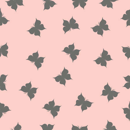 vector butterfly on pink background seamless repeat pattern. Beautiful butterfly design