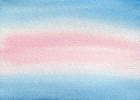 abstract watercolor background in light pink and blue hues, abstract shy and water