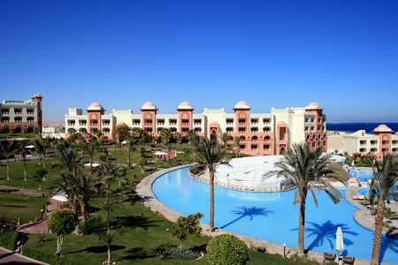 Hotel in moroccan in Egypt, with swimming-pools