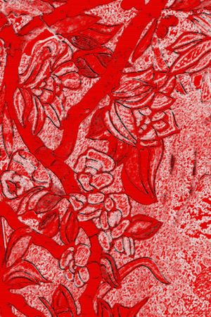Abstract background with red painting Stock Photo - 4358538