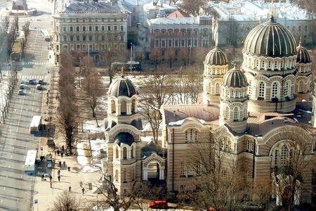 View on the Orthodoxal Cathedral in Riga photo