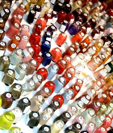 Collection of nail polish bottles in many colors Stock Photo - 4651786
