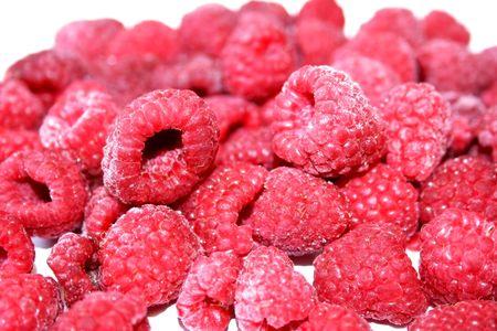 Frozen Raspberries close - up Stock Photo