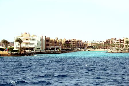 Luxurious hotels ashore the Red sea in Hurghada photo