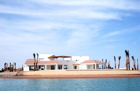 Villa in Greek style. El Gouna, Egypt Stock Photo
