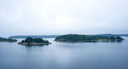 Islands Stockholm archipelago in Baltic sea Stock Photo