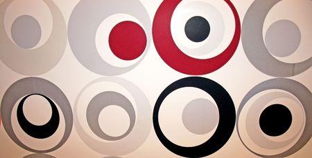Colorful abstract circles close up