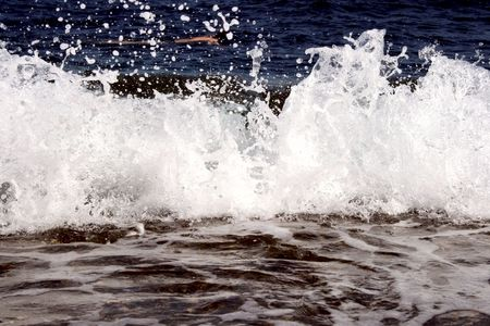Waves crashing down. Force of nature.