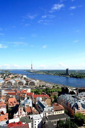 Panorama view of Riga, capital of Latvia