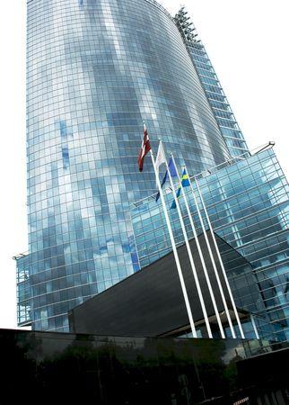 Office building in Riga Latvia Stock Photo